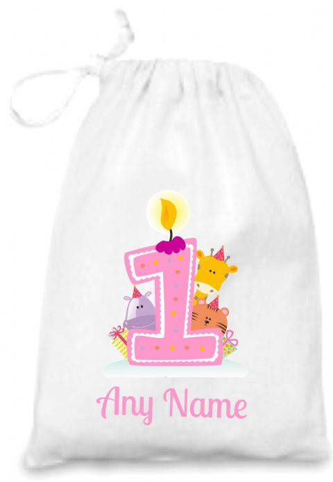 First Birthday (pink) Gift Bag